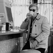 Andy at a New York City diner, spring 1965