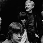 Baby Jane Holzer, Mick Jagger, model Peggy Moffitt, and Andy at Holzer's apartment, NYC, winter 1964-65