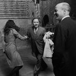 Tennessee Williams does the Lindy with superstar Elecktrah at the Factory, NYC, spring 1965