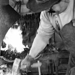 Thomaso Affery at his forge, Sante Fe, New Mexico
